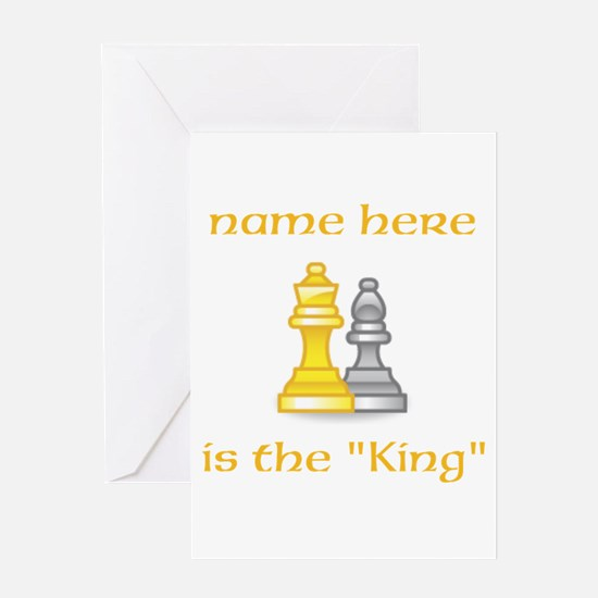 Personlized King Shirt Greeting Card