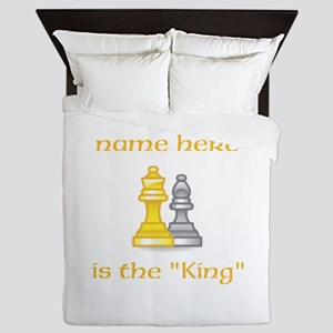 Personlized King Shirt Queen Duvet