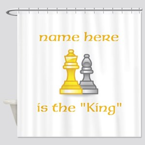 Personlized King Shirt Shower Curtain