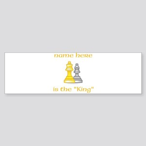 Personlized King Shirt Sticker (Bumper)