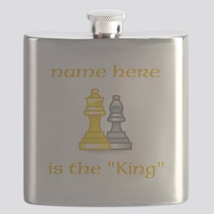 Personlized King Shirt Flask