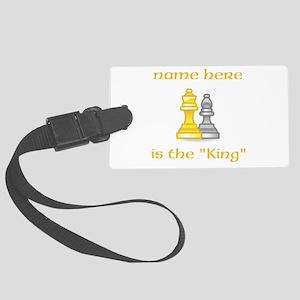 Personlized King Shirt Large Luggage Tag