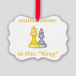 Personlized King Shirt Picture Ornament
