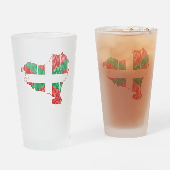 Basque Flag And Map Drinking Glass