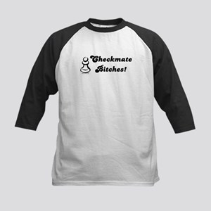 Funny Checkmate Bitches Kids Baseball Jersey