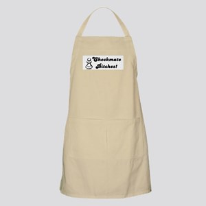 Funny Checkmate Bitches BBQ Apron