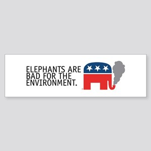 sticker:Elephants (GOP) bad for environment