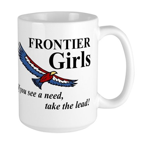 Frontier Girls Motto - Color Large Mug