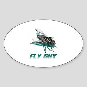 Fly Guy Oval Sticker