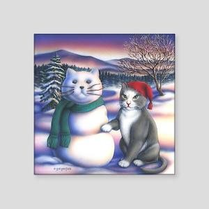 """Snowcats Square Sticker 3"""" x 3"""""""