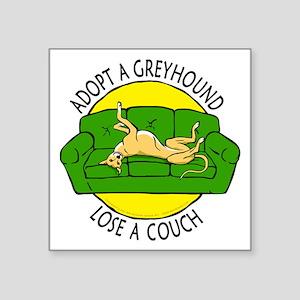 "Lose a Couch (G) Square Sticker 3"" x 3"""