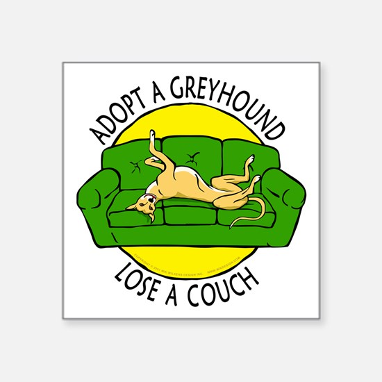 "Lose a Couch (G) Square Sticker 3"" x 3"""