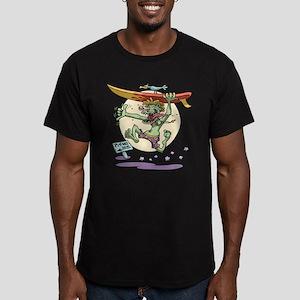 Surfin' Stu Men's Fitted T-Shirt (dark)