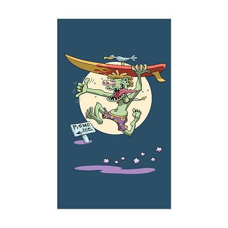 Surfin' Stu Sticker (Rectangle)