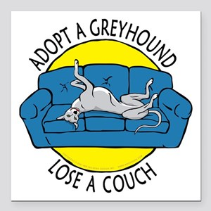 """Lose a Couch (B) Square Car Magnet 3"""" x 3"""""""
