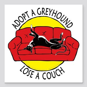 """Lose a Couch (R) Square Car Magnet 3"""" x 3"""""""