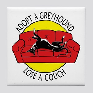 Lose a Couch (R) Tile Coaster
