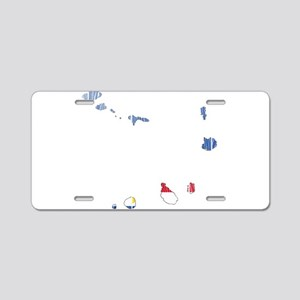 Cape Verde Flag And Map Aluminum License Plate