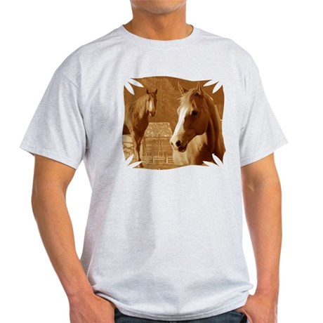 horse sepia picture Light T-Shirt