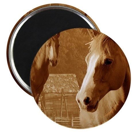 """horse sepia picture 2.25"""" Magnet (10 pack)"""