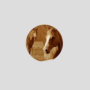 horse sepia picture Mini Button