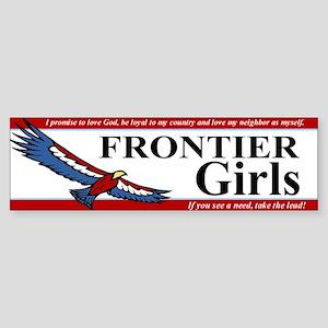 Frontier Girls Bumper Sticker Sticker (Bumper)