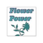 Flower Power Square Sticker 3