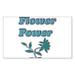 Flower Power Sticker (Rectangle)