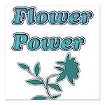 Flower Power Square Car Magnet 3