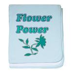 Flower Power baby blanket