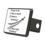 Kill With Kindness Rectangular Hitch Cover