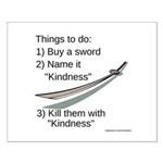 Kill With Kindness Small Poster