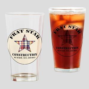 Frat Star Construction Drinking Glass