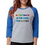 Autism Acceptance Womens Baseball Tee