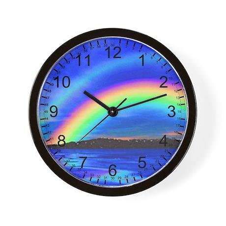 DOUBLE RAINBOW 2 Wall Clock