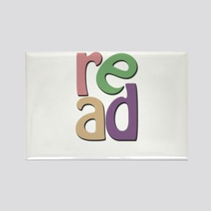 Read Wrapped Design Rectangle Magnet
