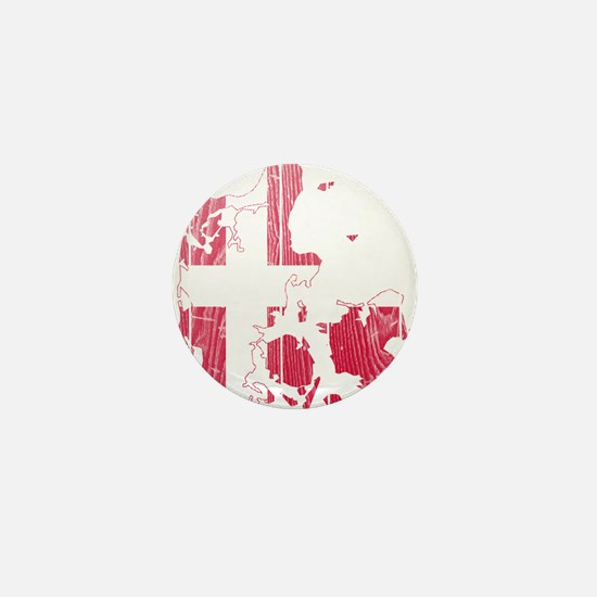 Denmark Flag And Map Mini Button