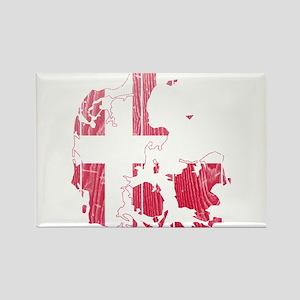 Denmark Flag And Map Rectangle Magnet