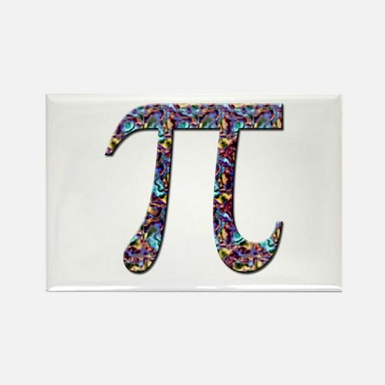 Pi (multicolor) Rectangle Magnet