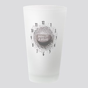 OUTLAWclock Frosted Drinking Glass