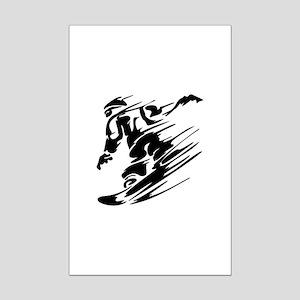 Snowboarding Mini Poster Print
