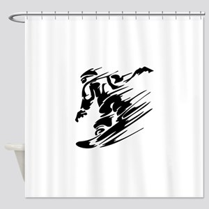 Snowboarding Shower Curtain