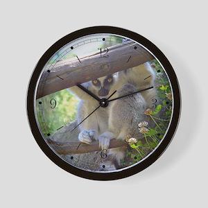 Lemur Peeking Wall Clock
