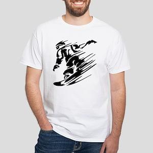 Snowboarding White T-Shirt