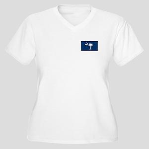 SC Palmetto Moon Women's Plus Size V-Neck T-Shirt