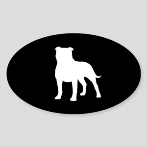 Staffordshire Bull Terrier Sticker (Oval)