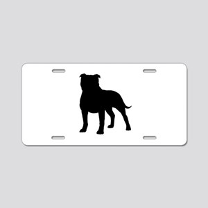 Staffordshire Bull Terrier Aluminum License Plate