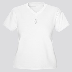 Snowboarding Women's Plus Size V-Neck T-Shirt