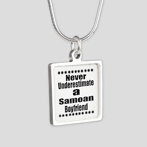 Never Underestimate A Samo Silver Square Necklace