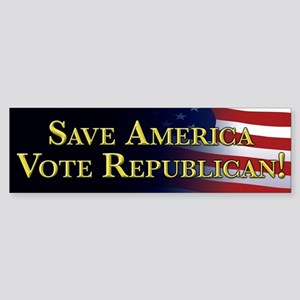 Save America Vote Republican! Sticker (Bumper)